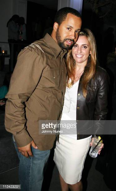 Kenny Burns and Bari Medgaus during Entertainment Weekly Mosely Music Group and Hennessy Present A Toast To Timbaland at BOULEVARD3 in Los Angeles...