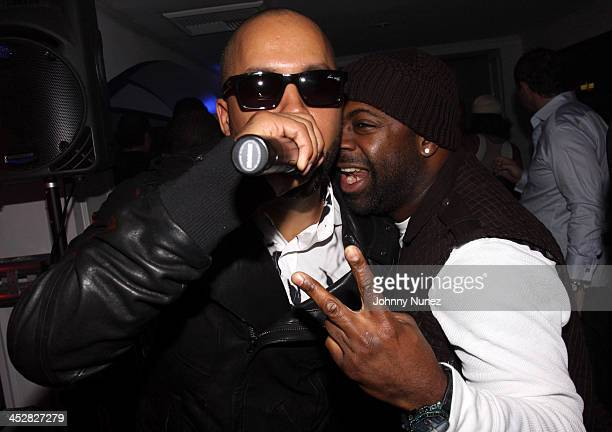 Kenny Burns and Breyon Prescott attend Timbalands Grammy Party Presented by Verizon and Blackberry on February 6 2009 in Los Angeles California