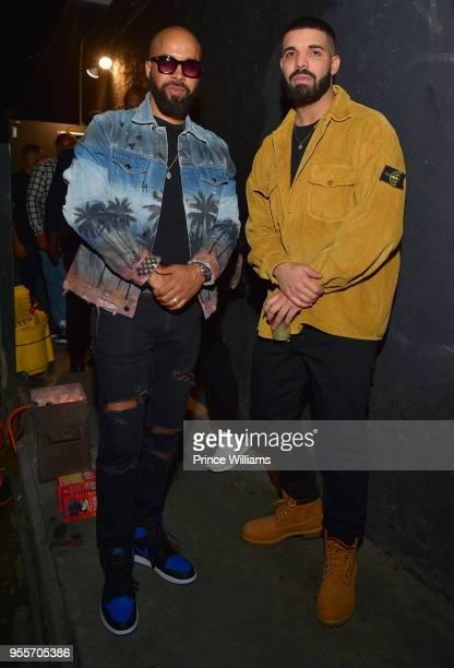 Kenny Burns and Drake attend Gold Room Saturday Nights at Gold Room on May 6 2018 in Atlanta Georgia