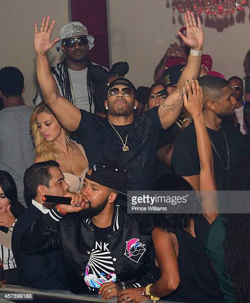 Kenny Burns and Nelly attend Hip Hop Awards Grande Finale Hosted by Jeezy Future at Velvet Room on September 21 2014 in Chamblee Georgia