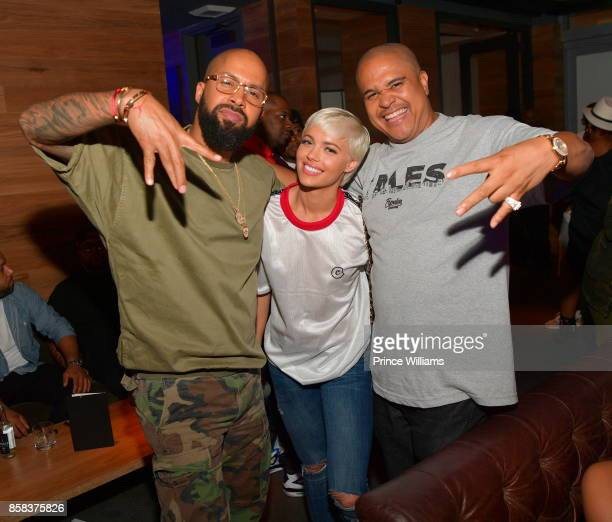Kenny Burns Ashley Martelle and Irv Gotti attend Baller Alert's Bowl With a Baller at Basement Bowl on October 5 2017 in Miami Florida