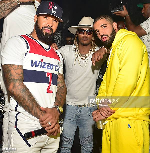 Kenny Burns rapper Future and Drake attend at Compound on June 20 2015 in Atlanta Georgia