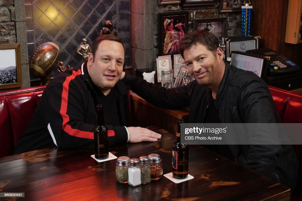 'Kenny Can Wait' -- Kevin takes a job as a driver in New York City and is delighted to learn his passenger is Harry Connick Jr., but while the two strike up an unlikely friendship, Kevin continuously finds himself making misleading comments to his new pal to make himself sound more interesting, on KEVIN CAN WAIT, Monday, April 10 (8:00-8:30 PM, ET/PT) on the CBS Television Network. Harry Connick Jr. guest stars as himself. Pictured: Kevin James, Harry Connick, Jr.