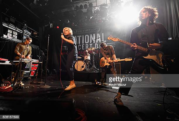 Kenny Carkeet Aaron Bruno Isaac Carpenter Marc Walloch and Zach Irons perform onstage during Awolnation live at Live Nation's 2nd Annual National...