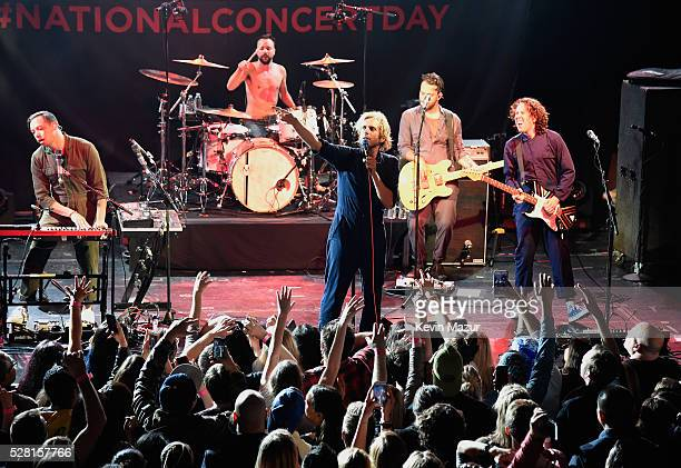 Kenny Carkeet Isaac Carpenter Aaron Bruno Marc Walloch and Zach Irons perform onstage during Awolnation live at Live Nation's 2nd Annual National...