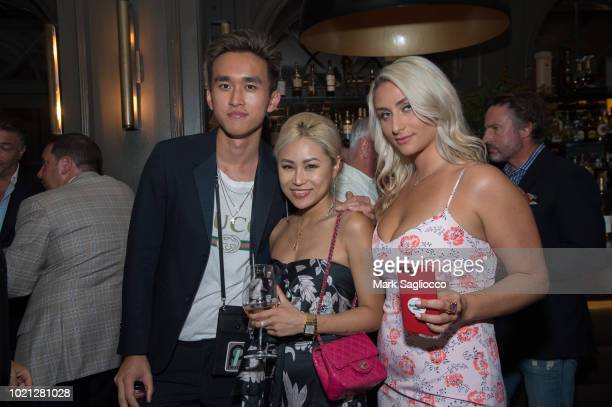 Kenny Chen Vera Wang and Anna Kassar attend Hamptons Magazine Celebration with Caroline Wozniacki Presented By Matthew Breitenbach of Compass Real...