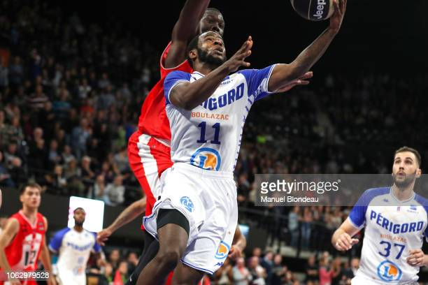 Kenny Chery of Boulazac during the Jeep Elite match between Boulazac Basket Dordogne v JL Bourg en Bresse on November 17 2018 in Boulazac France
