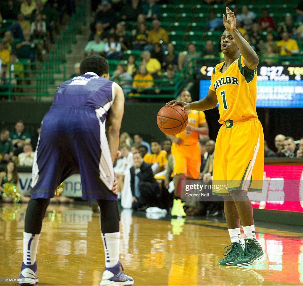 Kenny Chery #1 of the Baylor Bears brings the ball up court against the TCU Horned Frogs on January 11, 2014 at the Ferrell Center in Waco, Texas.