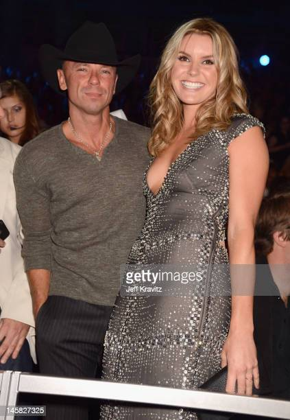 Kenny Chesney and Grace Potter attend the 2012 CMT Music awards at the Bridgestone Arena on June 6 2012 in Nashville Tennessee