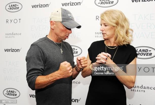 Kenny Chesney and Rory Kennedy attend 'Take Every Wave The Life Of Laird Hamilton' New York Premiere at The Metrograph on October 4 2017 in New York...