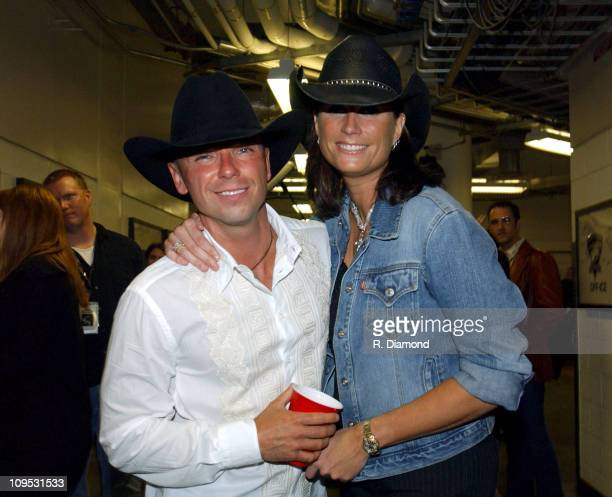 Kenny Chesney and Terri Clark during CMT 2004 Flame Worthy Video Music Awards Backstage and Audience at Gaylord Entertainment Center in Nashville TN...