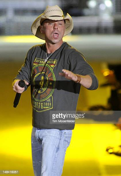 Kenny Chesney performs as part of the Brothers of the Sun Tour at Oco Coliseum on July 15 2012 in Oakland California
