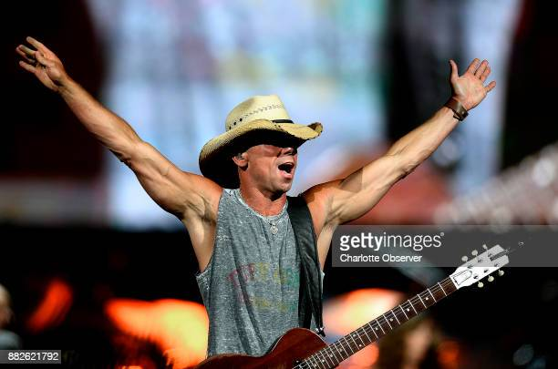 Kenny Chesney performs during The Big Revival Tour at Time Warner Cable Arena in Charlotte NC on Thursday June 11 2015