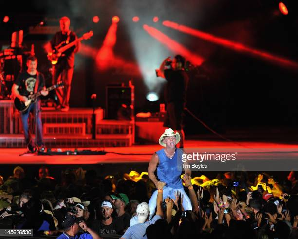 Kenny Chesney performs during the 'Brothers of the Sun' Tour KickOff Concert at Raymond James Stadium on June 2 2012 in Tampa Florida