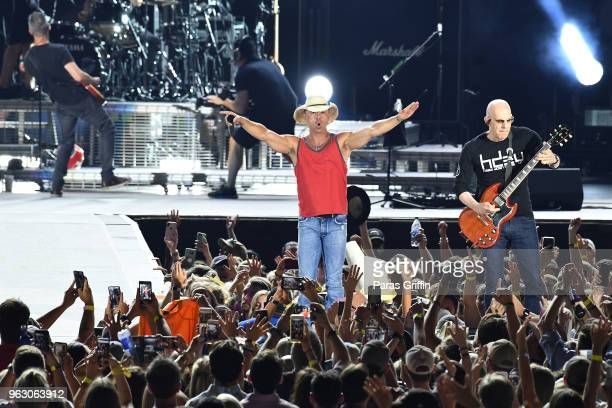 Kenny Chesney performs in concert during Trip Around The Sun tour at MercedesBenz Stadium on May 26 2018 in Atlanta Georgia