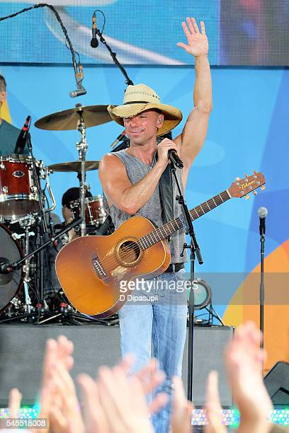 "Kenny Chesney performs on ABC's ""Good Morning America"" at SummerStage at Rumsey Playfield, Central Park on July 8, 2016 in New York City."