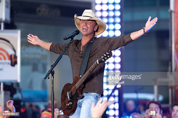 Kenny Chesney performs on NBC's 'Today' at the NBC's TODAY Show on September 23 2014 in New York City