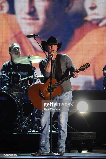 Kenny Chesney performs The Boys of Fall at the 44th Annual CMA Awards at the Bridgestone Arena on November 10 2010 in Nashville Tennessee