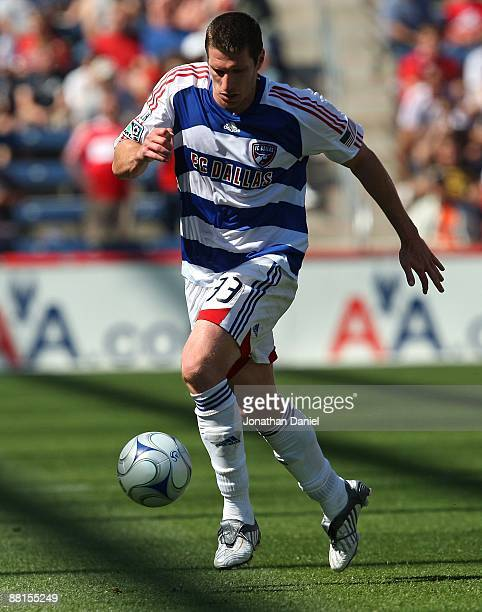 Kenny Cooper of FC Dallas controls the ball against the Chicago Fire on May 31 2009 at Toyota Park in Bridgeview Illinois FC Dallas defeated the Fire...