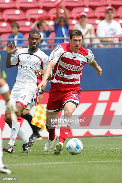 Kenny Cooper of FC Dallas goes for the ball against the New England Revolution on April 29 2007 in Frisco TX