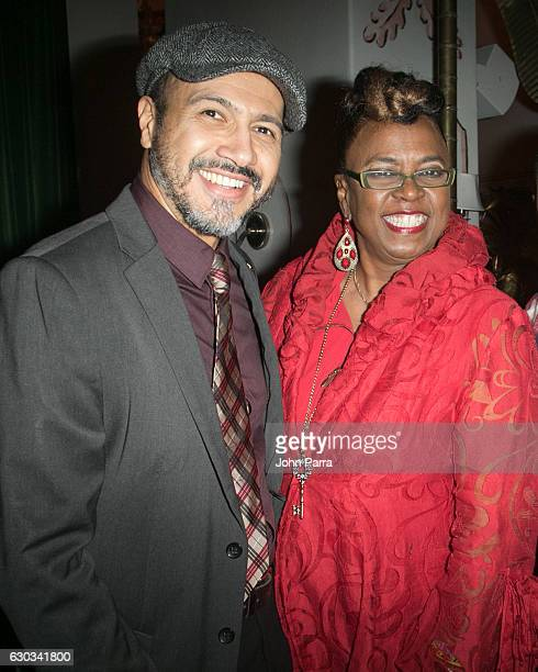 Kenny Cordova and Betty Wright attend The Recording Academy Florida Chapter In The Mix Holiday Party at El Tuscan on December 20 2016 in Miami Florida