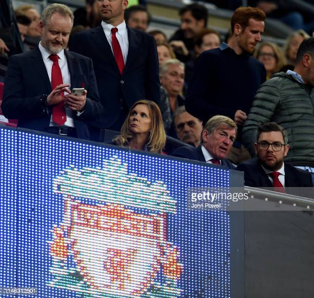 Kenny Daglish of Liverpool in the stands during the UEFA Champions League Semi Final first leg match between Barcelona and Liverpool at the Nou Camp...