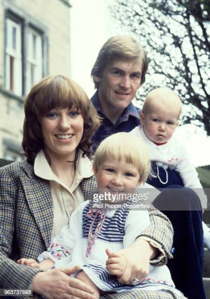 Kenny Dalglish and his wife Marina with their children Kelly and Paul in Glasgow Scotland circa 1977