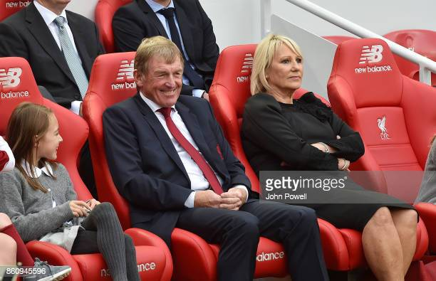 Kenny Dalglish and Marina Dalglish during the Kenny Dalglish Stand unveiling on October 13 2017 in Liverpool United Kingdom