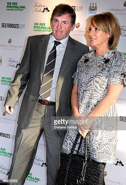 Kenny Dalglish and wife Marina Dalglish attend Fashion Kicks in aid of Macmillan Cancer Relief at Old Trafford Cricket ground on April 13 2010 in...