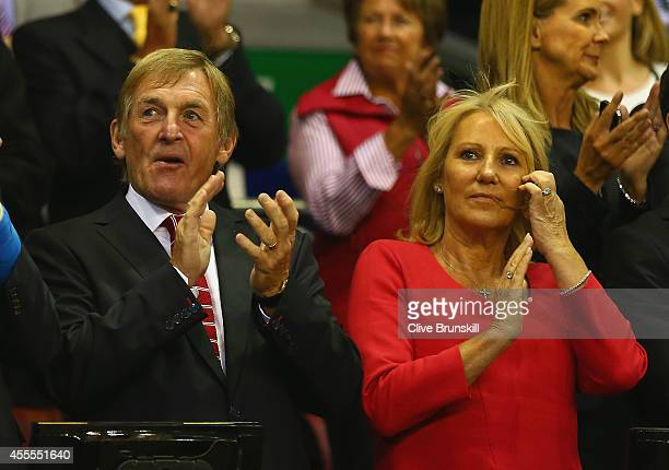 Kenny Dalglish and wife Marina Dalglish attend the UEFA Champions League Group B match between Liverpool FC and PFC Ludogorets Razgrad at Anfield on...