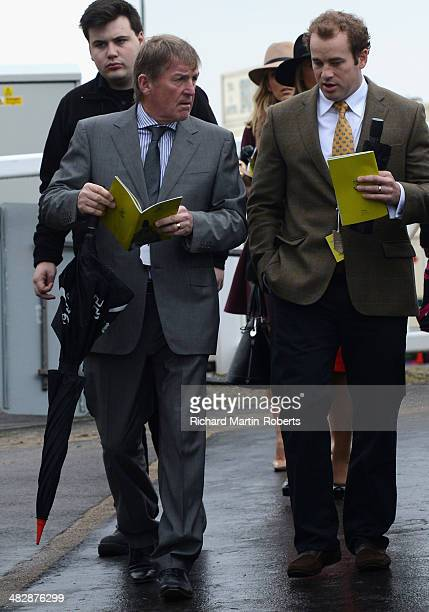 Kenny Dalglish arrives on Day 3 Grand National day of the Aintree races at Aintree Racecourse on April 5 2014 in Liverpool England