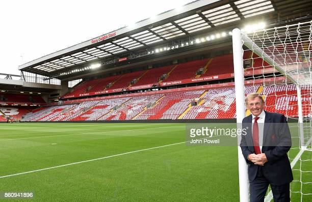 Kenny Dalglish during the Kenny Dalglish Stand unveiling on October 13 2017 in Liverpool United Kingdom