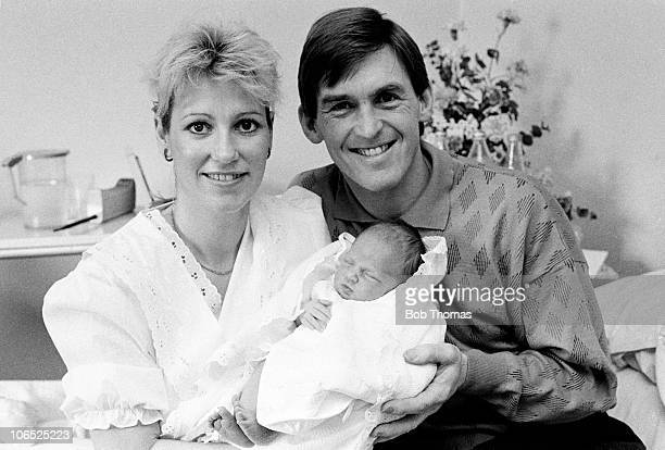 Kenny Dalglish Liverpool manager with his wife Marina and their new daughter Lauren in February 1988