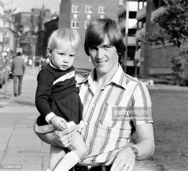 Kenny Dalglish of Celtic and Scotland with his daughter Kelly the morning after the 1978 FIFA World Cup qualification match between Wales and...