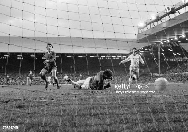 Football 1981 FA Cup Third Round Liverpool 4 v Altrincham 1 3rd January 1981 Kenny Dalglish scores one of his two goals for Liverpool