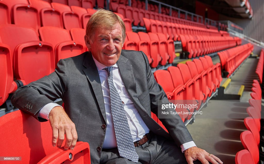 Kenny Dalglish poses for a portrait at Anfield on June 07, 2018 in Liverpool, United Kingdom. The former footballer and manager will receive a Knighthood in the Queen's Birthday Honours.