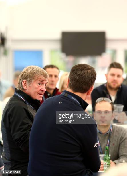 Kenny Dalglish takes part in a QA during Day 3 of the Betfred British Masters at Hillside Golf Club on May 11 2019 in Southport United Kingdom