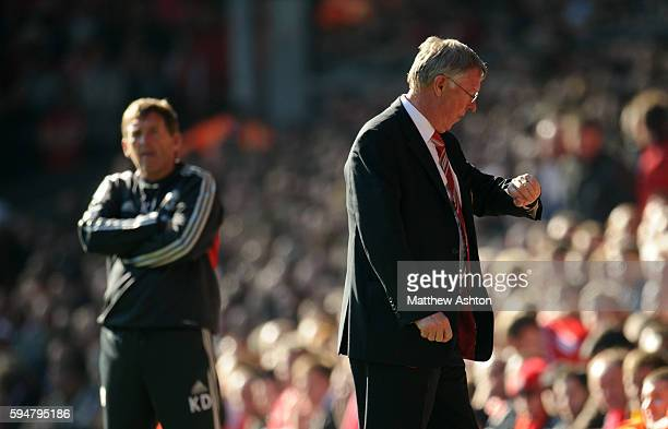Kenny Dalglish the head coach / manager of Liverpool and Sir Alex Fersuson the head coach / manager of Manchester United