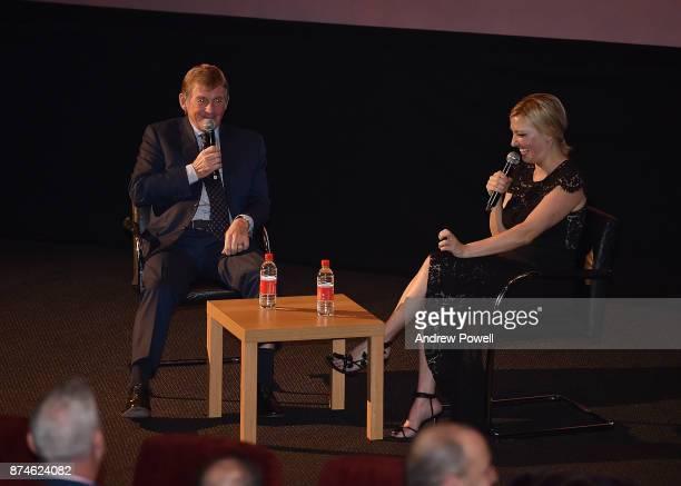 Kenny Dalglish with Kelly Cates before the screaning of Kenny at the FACT cinema on November 15 2017 in Liverpool England