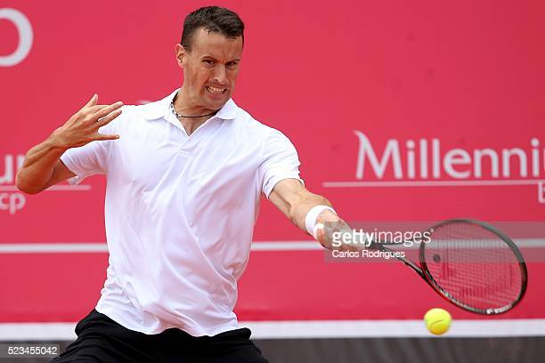 Kenny de Schepper from France during the match between Farrukh Dustov and Kenny de Schepper for Millennium Estoril Open 2016 at Clube de Tenis do...