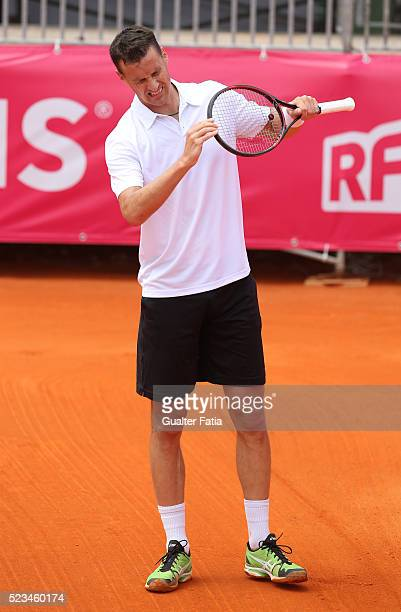 Kenny de Schepper from France during the match between Farrukh Dustov and Kenny de Schepper for Millennium Estoril Open at Clube de Tenis do Estoril...