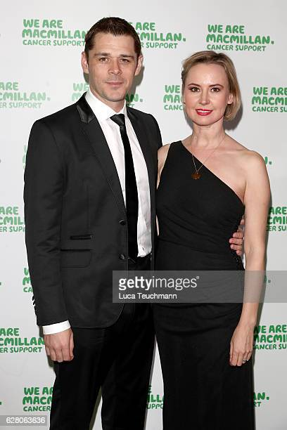 Kenny Doughty and Caroline Carver attend the Macmillan Cancer Support Celebrity Christmas Stocking Auction at Park Lane Hotel on December 6, 2016 in...