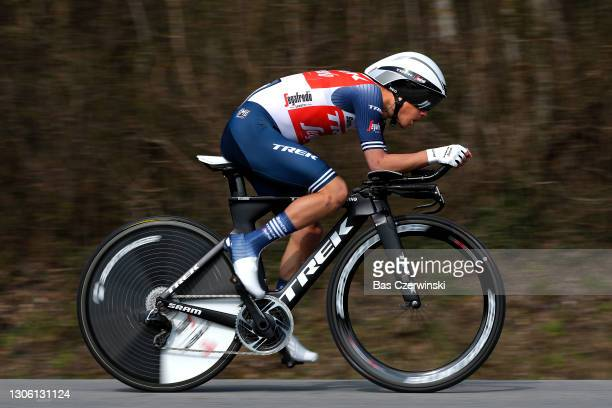 Kenny Elissonde of France and Team Trek - Segafredo during the 79th Paris - Nice 2021, Stage 3 a 14,4km Individual Time Trial stage from Gien to Gien...