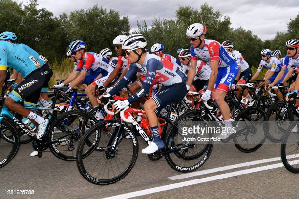 Kenny Elissonde of France and Team Trek Segafredo / Mickael Delage of France and Team Groupama FDJ / during the 75th Tour of Spain 2020 Stage 3 a...