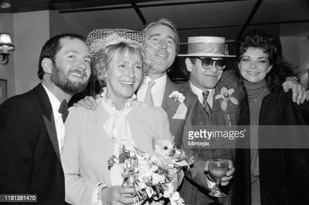 Kenny Everett is best man at the wedding of his former wife Lee Lee is marrying Crossroads actor John Alkin in the Pembridge Spiritualist Church...