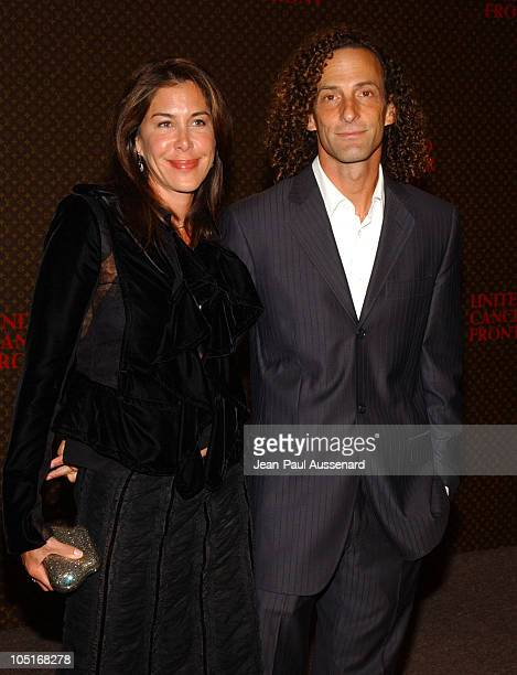 Kenny G and wife during The Louis Vuitton United Cancer Front Gala Arrivals at Private Residence in Holmby Hills California United States