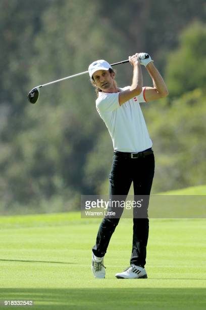 Kenny G competes during the ProAm of the Genesis Open at the Riviera Country Club on February 14 2018 in Pacific Palisades California
