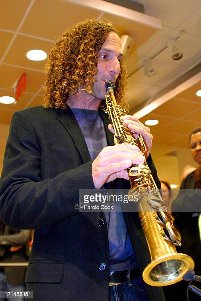 Kenny G during Kenny G Celebrates the Release of his Album 'At LastThe Duets Album' at Borders at Time Warner Center in New York New York United...