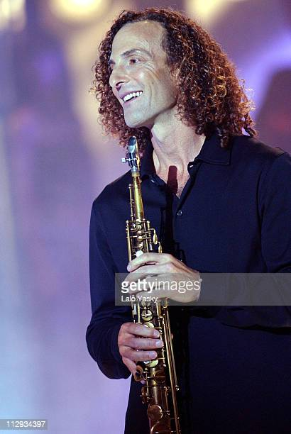 Kenny G during Kenny G Performs Live on Spanish TV Show 'Operacion Triunfo' at TVE Studios in Madrid Spain