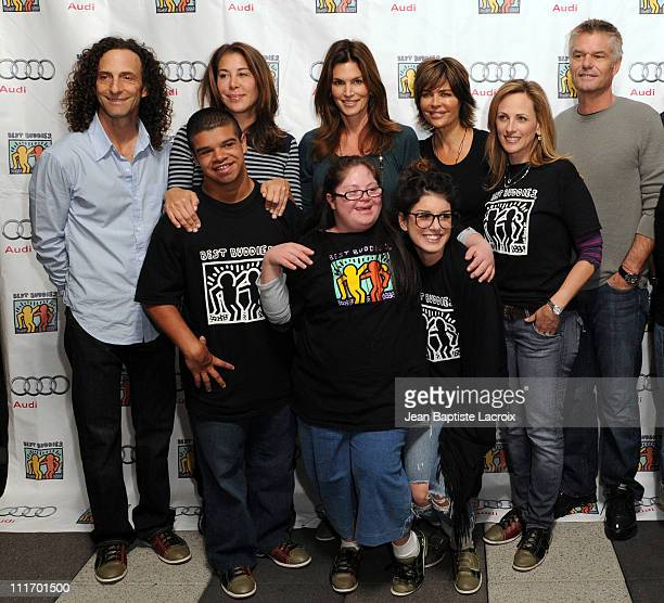 Kenny G Lyndie Benson Cindy Crawford Lisa Rinna and Harry Hamlin attend the Best Buddies International's 'Bowling For Buddies' Benefit presented by...